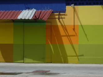 Colorful warehouse